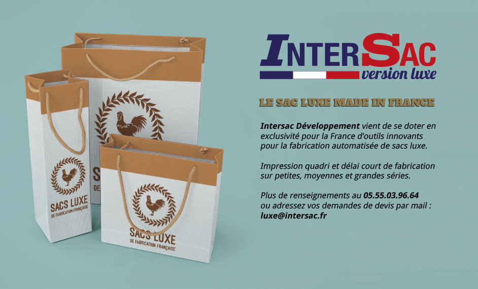 Sacs papier luxe made in France par Intersac
