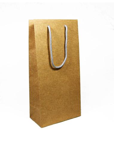50 Sacs boutique luxe kraft vintage 18 + 12 x 38 cm