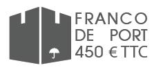 Franco de port à partir de 450 €